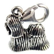 Shih Tzu / Shitzu Dog Sterling Silver Clip On Charm - With Clasp